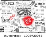 restaurant cafe menu  template... | Shutterstock .eps vector #1008920056