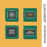 icon set of chips. a processor... | Shutterstock .eps vector #1008924475