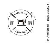 sewing machine logo | Shutterstock .eps vector #1008926575