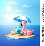 vector realistic 3d pink... | Shutterstock .eps vector #1008933922