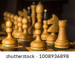 chess photographed on a chess... | Shutterstock . vector #1008936898