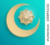 paper graphic of islamic... | Shutterstock .eps vector #1008942232