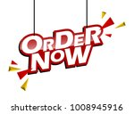 red and yellow tag order now | Shutterstock .eps vector #1008945916