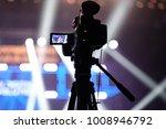 tv camera in a concert hall... | Shutterstock . vector #1008946792