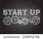 start up text with gear wheels... | Shutterstock .eps vector #1008952786