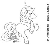 hand drawn unicorn pony... | Shutterstock .eps vector #1008952885
