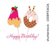 happy birthday card. festive... | Shutterstock .eps vector #1008953626