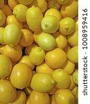grapefruits and lemons in super ... | Shutterstock . vector #1008959416