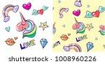 vector vintage seamless pattern ... | Shutterstock .eps vector #1008960226