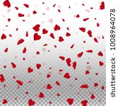 3d hearts. scattered pattern on ... | Shutterstock .eps vector #1008964078
