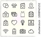 valentine's day line icons set... | Shutterstock .eps vector #1008965152