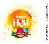 holi  colorful happy holi... | Shutterstock .eps vector #1008966958