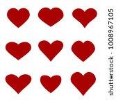heart icon set | Shutterstock .eps vector #1008967105
