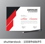 certificate template a4 size... | Shutterstock .eps vector #1008968695