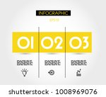 yellow info rectangle with... | Shutterstock .eps vector #1008969076
