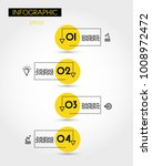 yellow info timeline with five... | Shutterstock .eps vector #1008972472