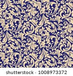 floral pattern. wallpaper... | Shutterstock .eps vector #1008973372