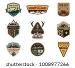 traveling  outdoor badge... | Shutterstock . vector #1008977266
