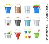 bucket vector bucketful or... | Shutterstock .eps vector #1008985558