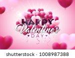 valentines day illustration... | Shutterstock .eps vector #1008987388