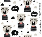seamless childish pattern with... | Shutterstock .eps vector #1008987778