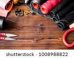 cobbler tools in workshop on... | Shutterstock . vector #1008988822