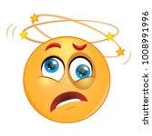 beat up emoticon seeing stars...   Shutterstock .eps vector #1008991996