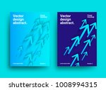 design template with arrows.... | Shutterstock .eps vector #1008994315