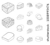 different kind of cheese... | Shutterstock .eps vector #1008995476
