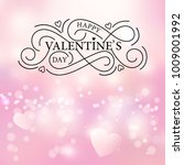 happy valentines day typography ... | Shutterstock .eps vector #1009001992