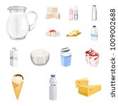 milk product cartoon icons in... | Shutterstock .eps vector #1009002688