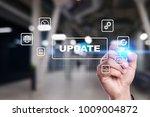 update on virtual screen.... | Shutterstock . vector #1009004872