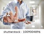 microchip  cpu  processor ... | Shutterstock . vector #1009004896