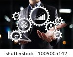 business process concept on... | Shutterstock . vector #1009005142