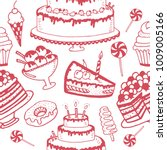 seamless pattern vector doodle... | Shutterstock .eps vector #1009005166