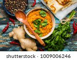 traditional indian lentils dal  ...   Shutterstock . vector #1009006246