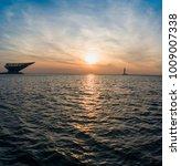 sunset at bayuquan  yingkou... | Shutterstock . vector #1009007338