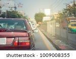 deep red old large luxury sedan ... | Shutterstock . vector #1009008355