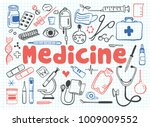 vector icons set of medicine... | Shutterstock .eps vector #1009009552