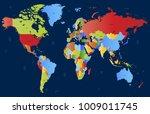 world map vector | Shutterstock .eps vector #1009011745
