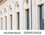 row of marble columns with... | Shutterstock . vector #1009015426