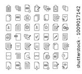 set of premium document icons... | Shutterstock .eps vector #1009017142
