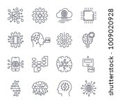 set of simple icons on a theme... | Shutterstock .eps vector #1009020928