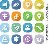 flat vector icon set   flag... | Shutterstock .eps vector #1009025818