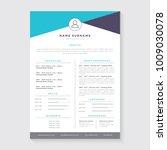 resume template  cv | Shutterstock .eps vector #1009030078