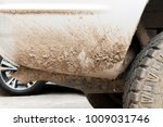 extremely dirty white off road... | Shutterstock . vector #1009031746