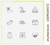 baby clothes line icon set baby ...   Shutterstock .eps vector #1009034572