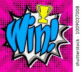 "pop art comics icon ""win "".... 