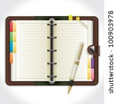 personal organizer with pen.... | Shutterstock .eps vector #100903978