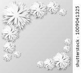 paper floral background.... | Shutterstock .eps vector #1009041325
